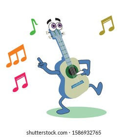 Happy Brazilian Musical Instruments Characters