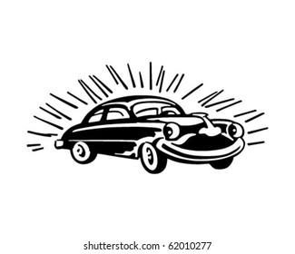 Happy Buick - Retro Clipart