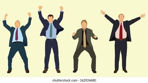 Happy Businessmen Celebrating
