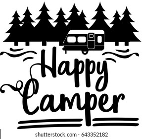 Happy Camper Vector Download Happycamper