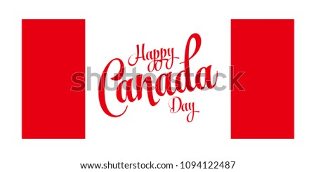Happy canada day greeting card calligraphic stock vector royalty happy canada day greeting card calligraphic text and canadian flag color vector illustration m4hsunfo