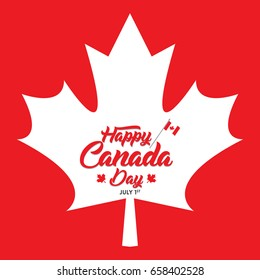 Happy Canada Day greetings vector illustration. Happy Independence day banner and print designs. Creative concepts for social media.