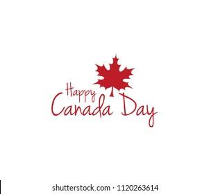 Happy canada day icon. canada day