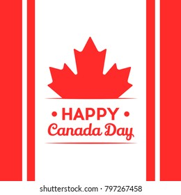Happy Canada Day Illustration Poster