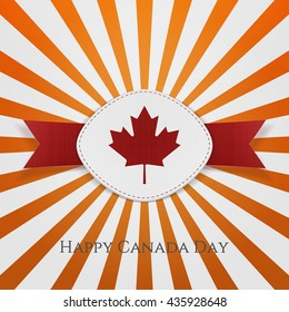 Happy Canada Day paper Card Template