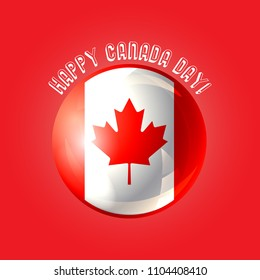 eedb425f9 Happy Canada day poster. Design for greeting card, printing products,  flyer, brochure