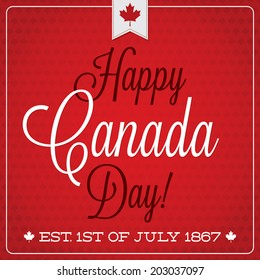 Happy Canada Day retro card in vector format.