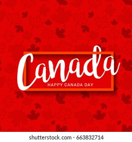 Happy Canada Day Typography Design,Poster Or Banner Template.