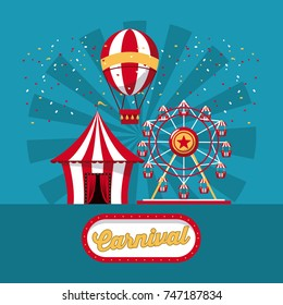 Happy carnival design
