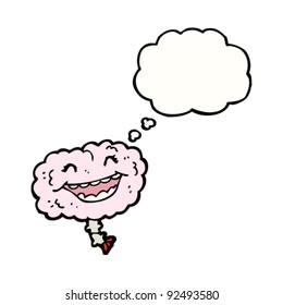 happy cartoon brain