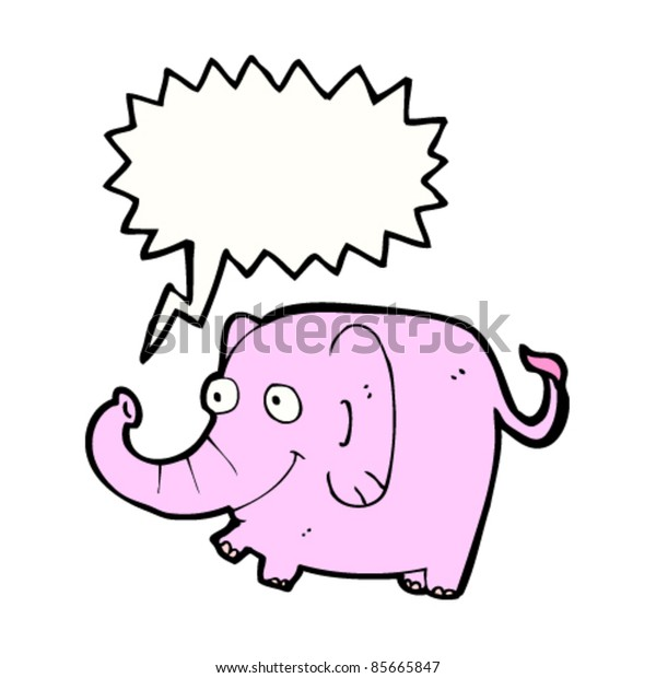 happy cartoon pink elephant