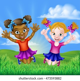 Afro American Kids Playing Outside Stock Illustrations Images Vectors Shutterstock