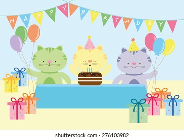 Happy Cat Birthday Party