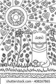 Chat Coloriage Images Stock Photos Vectors Shutterstock
