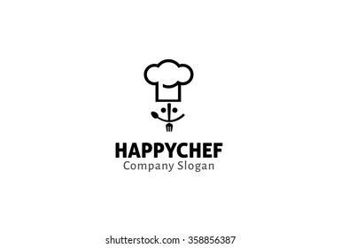 Happy Chef Logo Design Illustration