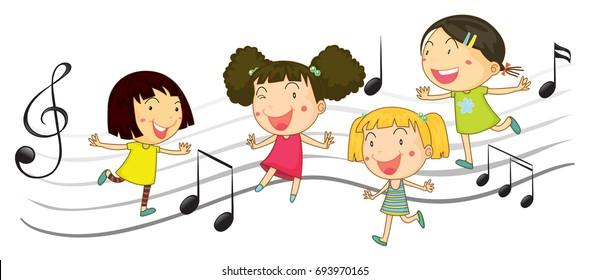 Children Dance Clipart Images Stock Photos Vectors Shutterstock