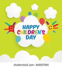 Happy Children Day Vector Illustration.