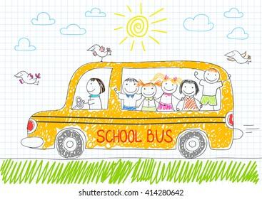 School Bus Drawing Images Stock Photos Vectors Shutterstock