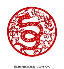 Happy Chinese New Year 2013 : year of the snake (vector graphics)
