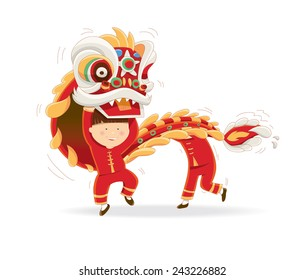 Happy Chinese New Year isolated on a white background