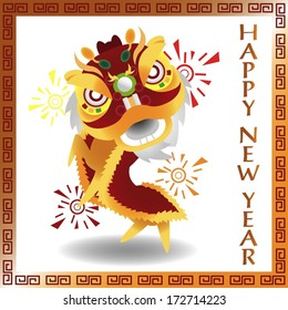 Happy Chinese New Year (Chinese Lion Version)