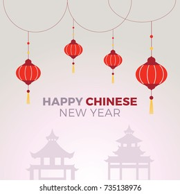 Happy Chinese new year. Vector of abstract chinese new year graphic and background.