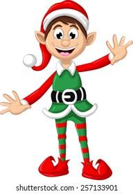 happy Christmas elf for you design