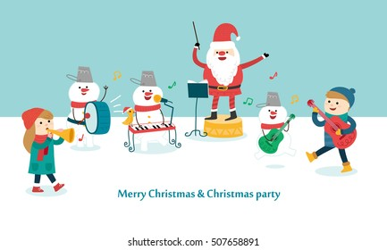 Happy Christmas Party. vector illustration