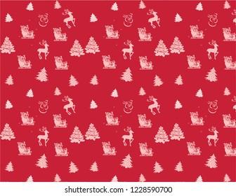 Happy christmas pattern graphics