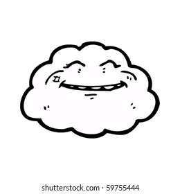 happy cloud cartoon