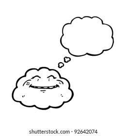 happy cloud cartoon