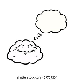 happy cloud cartoon character