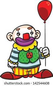 Happy clown with a balloon