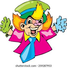 happy clown cartoon