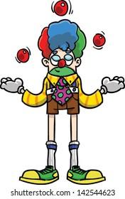 Happy clowning jugging