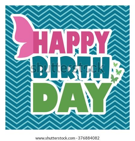 Happy Colorful Birthday Card Happy Birthday Stock Vector Royalty