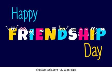 Happy Colorful Friendship Internatonal Day Vector Illustration