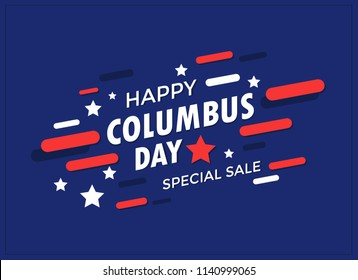Happy Columbus Day Banner vector illustration