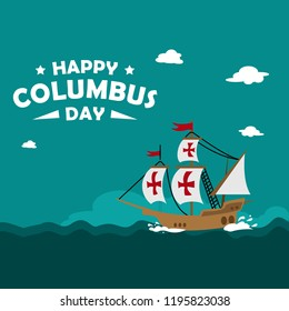 happy columbus day design template