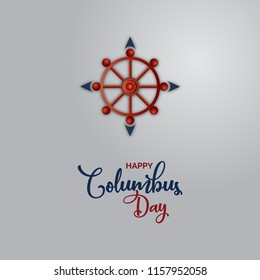 Happy columbus day national USA, America discover holiday. vector poster , wallpaper and greeting card illustration.