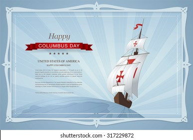 Happy Columbus Day. Vector illustration