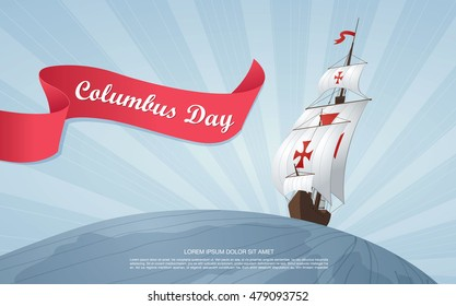 Happy Columbus Day. Vector illustration