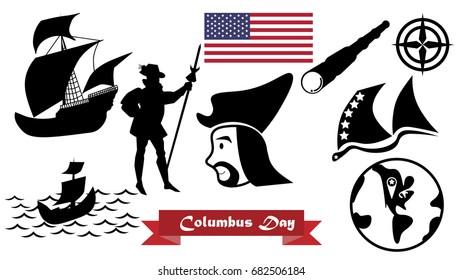 Happy Columbus Day, Vector Illustration