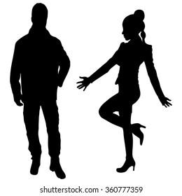 happy couple standing