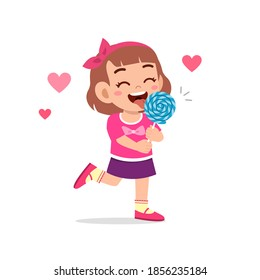 happy cute little kid boy and girl eat candy and sweets