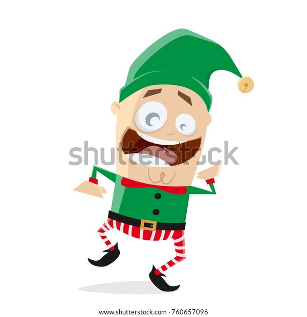 Christmas Elves Clipart Free.Happy Dancing Christmas Elf Clipart Stock Vector Royalty