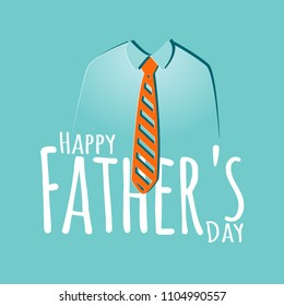 Happy Father's Day greeting card with tie. Vector illustration.