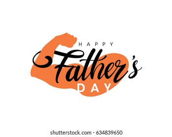Happy Father's Day greeting Card. Vector illustration.
