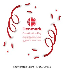 Happy Denmark Constitution Day Vector  Template Design Illustration