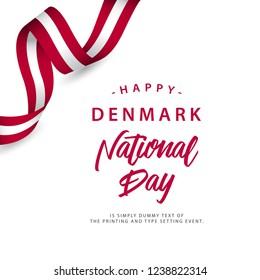 Happy Denmark National Day Vector Template Design Illustration